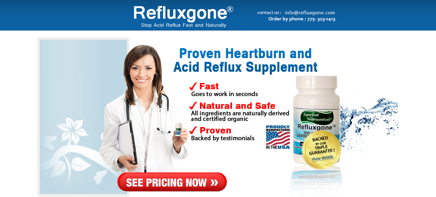 All Natural Treatment For Acid Reflux & Heartburn | Refluxgone®